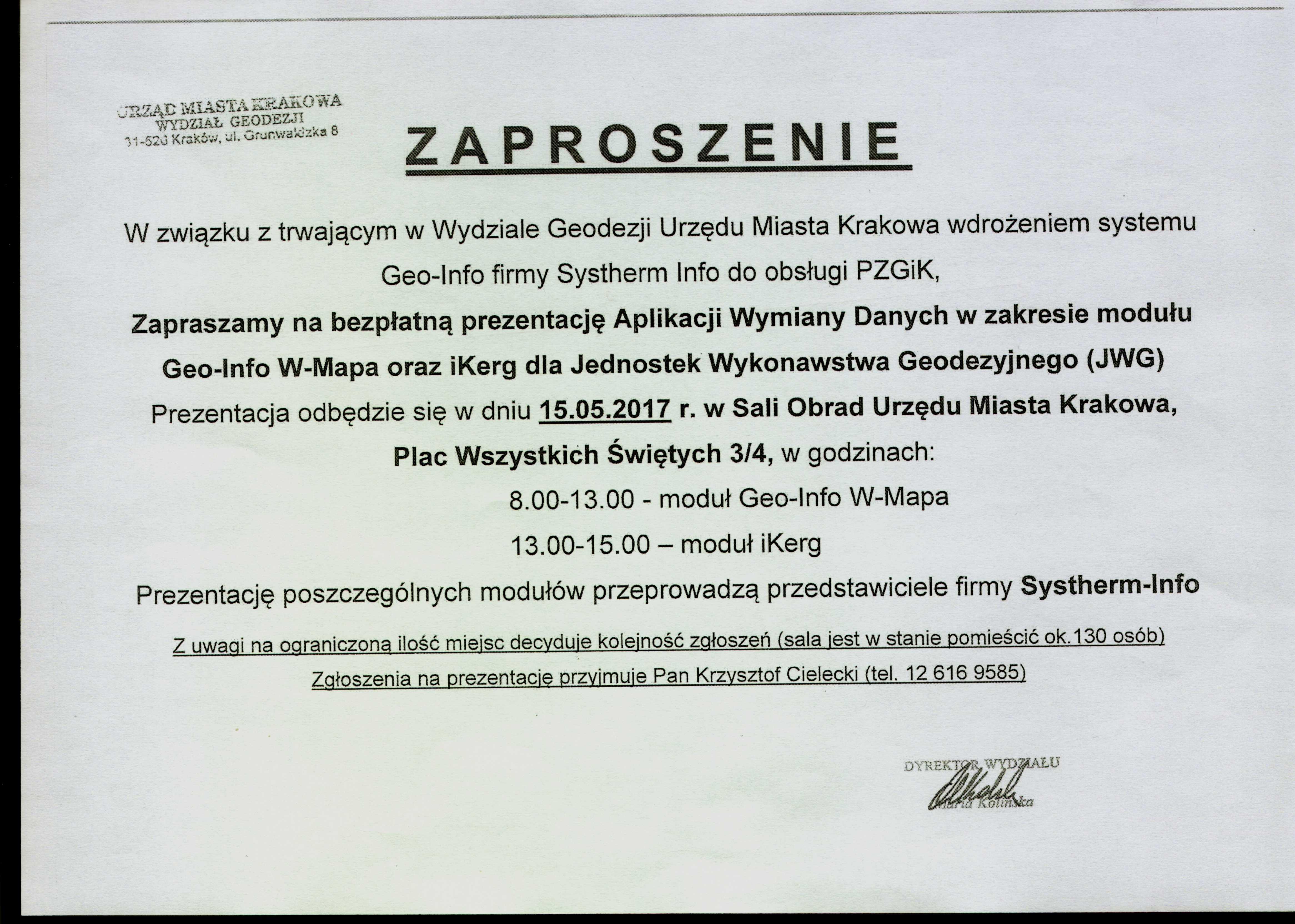 Stowarzyszenie Geodetów Polskich Oddział W Krakowie